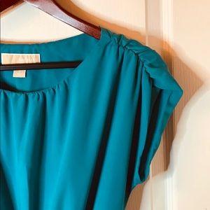 Michael Kors | Dress Tie Waist Ruched Shoulders